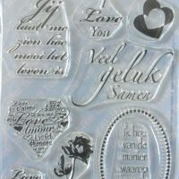 Family, stamp, tekst liefde