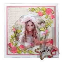 voorbeeldkaart van rozenhoek snijmal