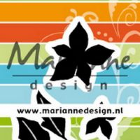 Craftables stencil, poinsettia by Marleen snijmal