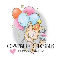 C.C.Design, stempel, Party Kitty