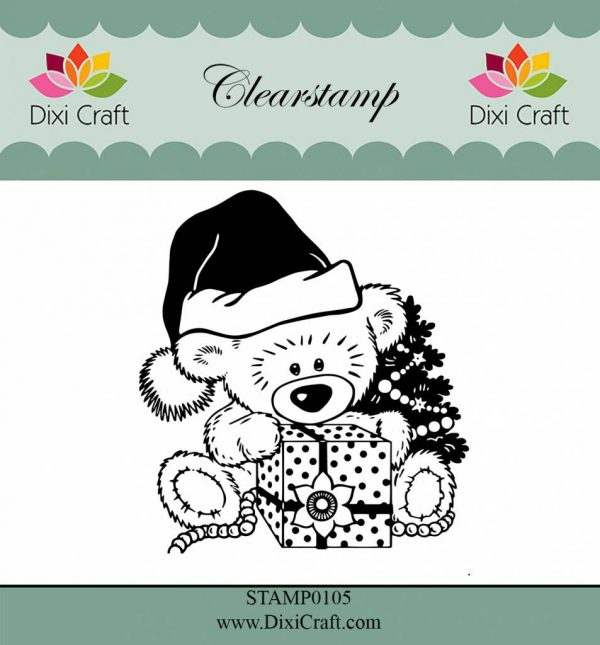 dixi crafts stempel van de kerst beer
