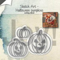 sketch art pompoenen van joy crafts
