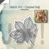 sketch art kastanjeblad van joy crafts