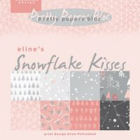 Pretty Papers bloc Eline's snowflake kisses