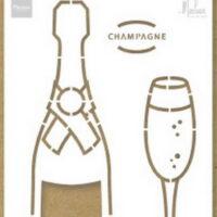 Marianne Design, sjabloon, Champagne