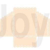 Joy! Crafts, snijmal, polybesa kaartmodel geschulpt