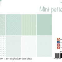 Joy! Crafts, papierset, Mint patterns